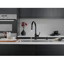 Matte Black Single Handle Pull-Down Kitchen Faucet with Touch 2 O Technology and Soap Dispenser