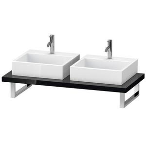Console For Above-counter Basin And Vanity Basin, Black High Gloss (lacquer)