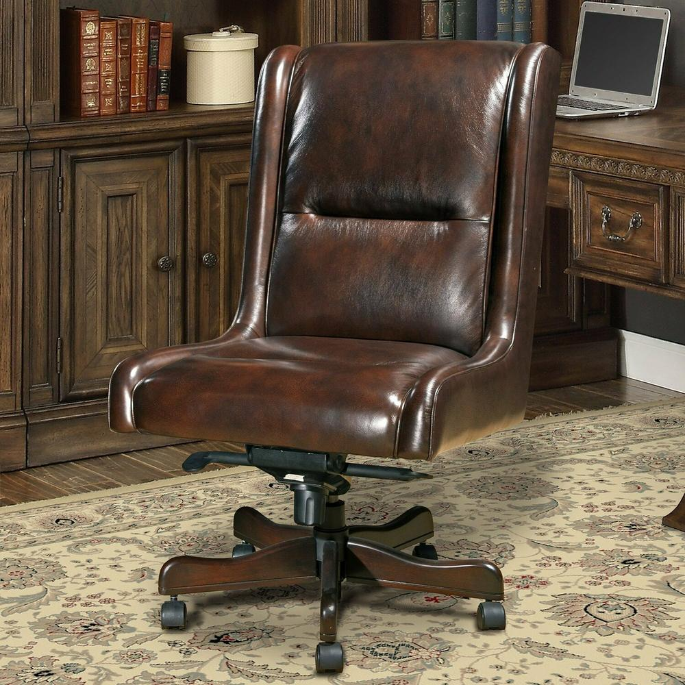 See Details - DC#108-CI - DESK CHAIR Leather Desk Chair