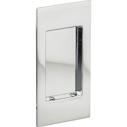 Modern Rectangular Flush Cup in (US26 Polished Chrome Plated)