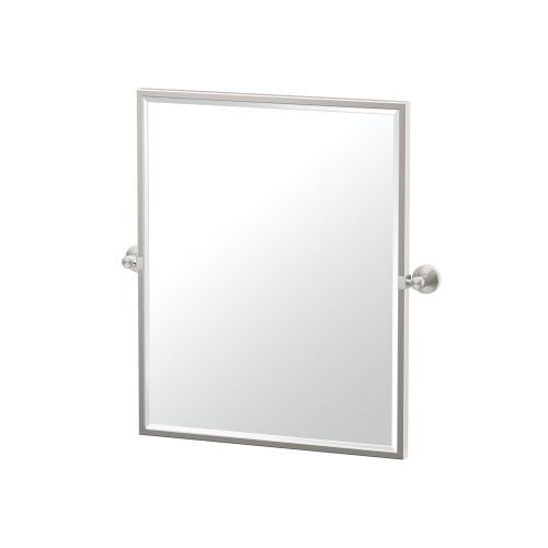 Glam Framed Rectangle Mirror in Satin Nickel