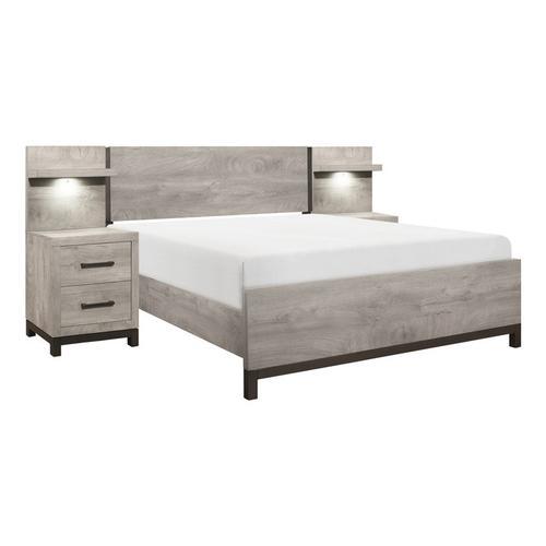 Homelegance - 5pc Set Eastern King Wall Bed (EK+2NS+2NS-P)
