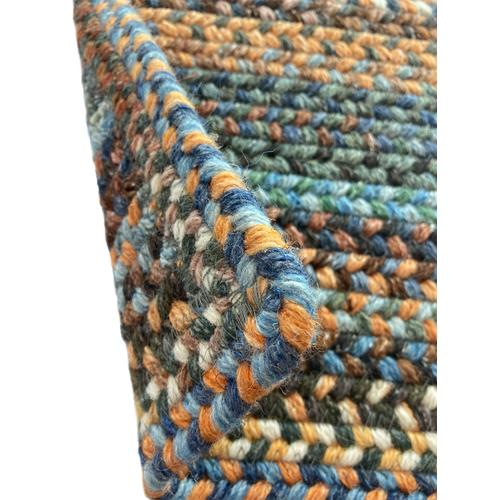 American Legacy Slate Blue Braided Rugs (Custom)