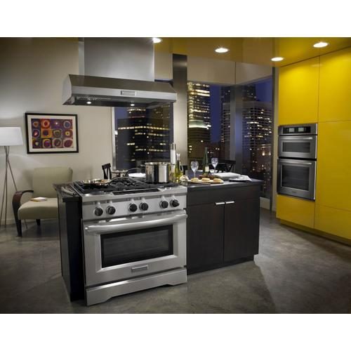 Product Image - 36'' 6-Burner Dual Fuel Freestanding Range, Commercial-Style Stainless Steel