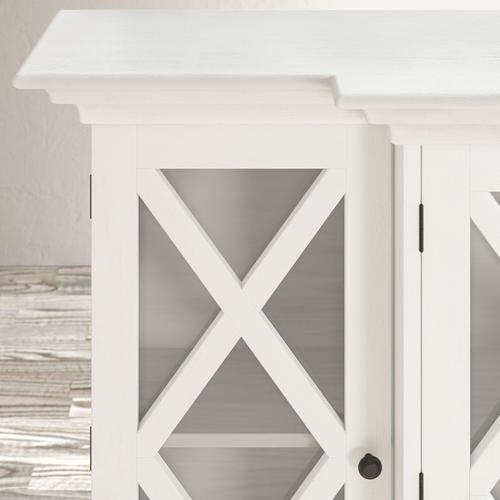 Jofran - Carrington Small Breakfront Cabinet - White