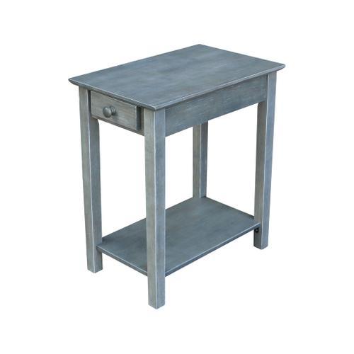 Narrow Heather Grey End Table