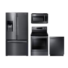 Samsung 4-Piece Black Stainless Kitchen Suite