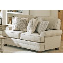 Farmington Stationary Loveseat in Buff Fabric