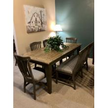 ECI- Table, Bench, & 4 Side Chairs
