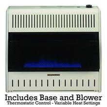PROCOM MNSD300TBABB 30000 BTU Vent Free Blue Flame Thermostat Heater with Blower and Base - Dual Fuel