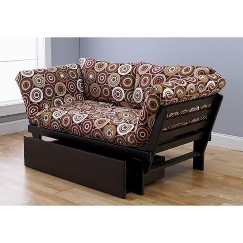 "Kodiak Furniture - Elite Frame in Espresso ""Rockin' Around"" Fabric"