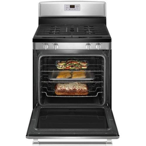 30 Inch Freestanding Gas Range with 4 Sealed Burners, 5.8 cu. ft. EvenAir Convection Oven, Maytag