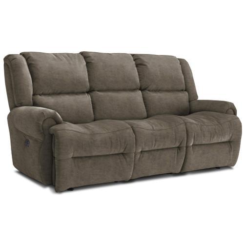 Genet Power Reclining Tilt Headrest Space Saver Sofa w/Tray in Grey