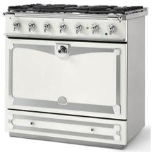 Pure White Albertine 90 with Polished Chrome Accents