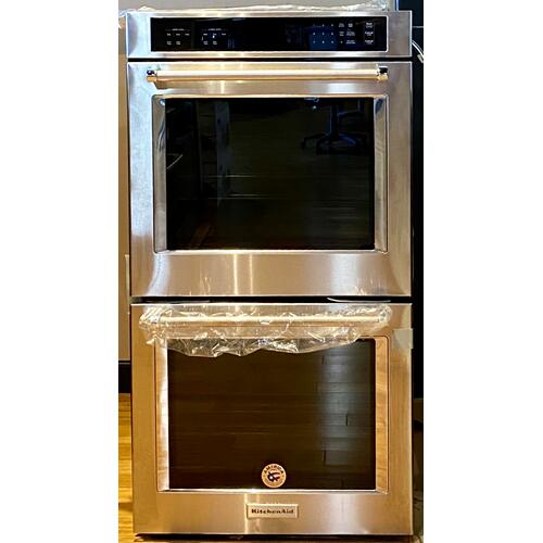 "KitchenAid KODT107ESS   27"" Double Wall Oven with Even-Heat™ Thermal Bake/Broil - Stainless Steel"