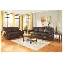 ASHLEY 50401438-35-23G Banner Coffee Leather Group Sofa, Loveseat & Chair