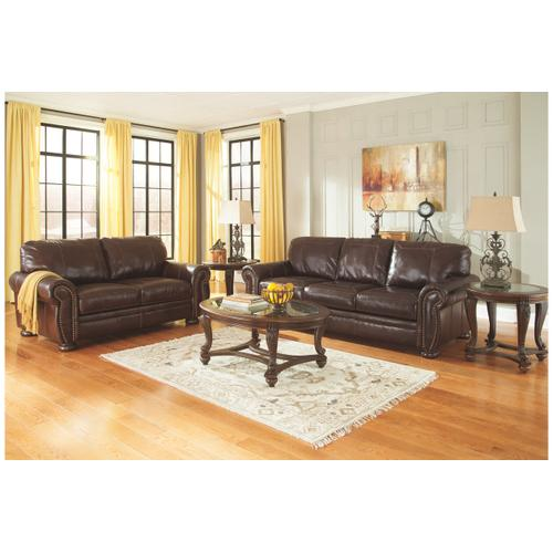 ASHLEY 5040435LS Banner Coffee Leather Loveseat