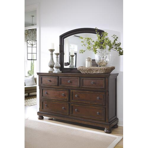 Porter 4 Pc. Queen Panel Bedroom Set Rustic Brown