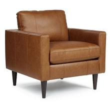 View Product - Trafton Club Chair - Leather - Rust