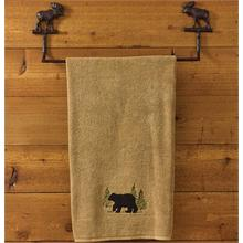 Cast Black Moose Towel Bar 24""
