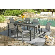 P315 Okada Patio Set - Table, 4 Side Chairs, 2 Swivel Arm Chairs