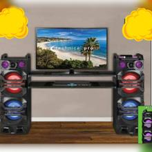 X BOOM Speakers and Bluetooth Powered TV Speaker System  with Wireless Microphone (OPTIONAL)