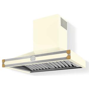 Lacornue Cornufe - Blanc Albertine 90 Hood with Polished Brass Accents