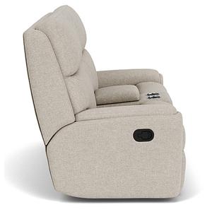 Flexsteel - Rio Power Reclining Console Loveseat w/ Tilt Headrest - 818-01