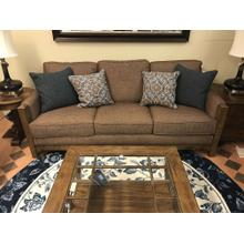 """See Details - Sonora Wood Frame Sofa 84""""Wx41""""Dx37""""H  Fabric 324-70 Fudge with Antique Bronze Nailheads"""