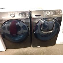 Refurbished Charcol STEAM SMARTHOME Samsung Front Load Washer Dryer Set  Please call store if you would like additional pictures. This set carries our 6 month warranty, MANUFACTURER WARRANTY AND REBATES ARE NOT VALID (Sold only as a set)