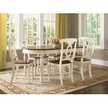 British Isles 5 Piece Dining Set, Oval Table with Naoleon Sidechairs