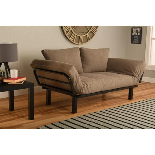 Mattress Discount Southgate - Black Spacely Lounger Linen Stone