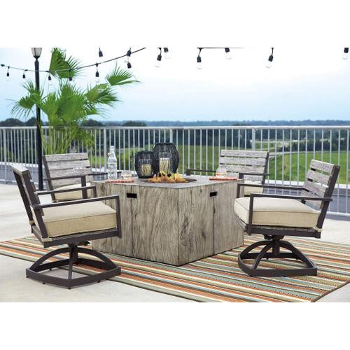 Peachstone Square Fire Pit Table