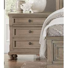 HOMELEGANCE 2259-4NS Bethel - Wire-brushed Gray Night Stand