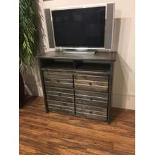 6 Drawer Media Chest Rustic Grey
