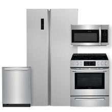 See Details - Frigidaire 18.8 Cu. Ft. 36'' Counter-Depth Side-by-Side Refrigerator 4 Piece Package- Open Box