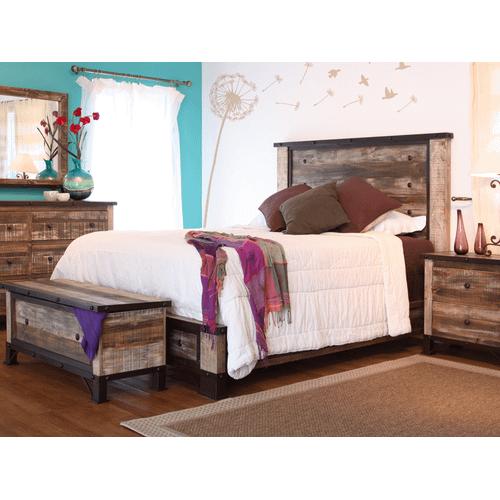 International Furniture Direct - Queen Platform Bed