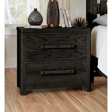 A&P Latitudes 2-Drawer Nightstand in Ebony Finish