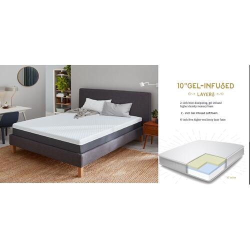 "The Bed Boss - Kasper - 10"" Memory Foam Mattress"