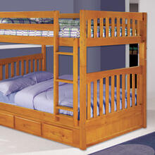 Honey Full over Full Bunk Bed
