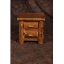 2 Drawer Cedar Nightstand