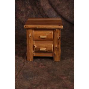 2 Drawer Cedar Nightstand