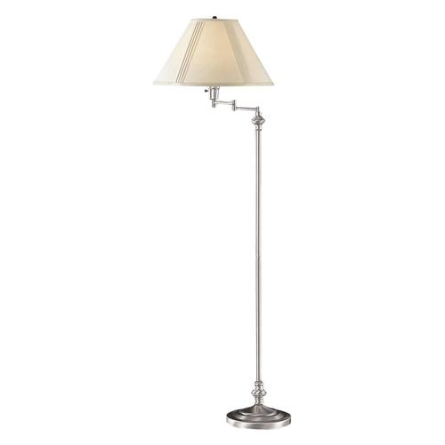 Cal Lighting BO-314-BS Swing Arm 1 Light Floor Lamp