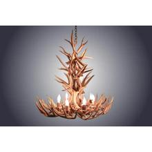 REAL 8 Light XL Whitetail Antler Chandelier