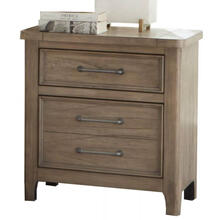 Harper Falls Lodge Grey Nightstand