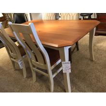 42x66 Solid Top 2-Tone Table in Solid Rustic Cherry