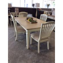 Rockport Rectangle Dining Table - White With Driftwood Top