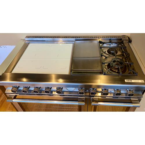 "Superiore RN483GPSS     Range NEXT 48"" Panorama Stainless steel 4 induction, griddle, 2 gas and 2 gas ovens **No Warranty**"