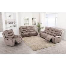 LIFESTYLE U80143-61 U80143-42 U80143-21 Canyon Gray Power Reclining Sofa, Power Reclining Console Loveseat & Power Recliner Group