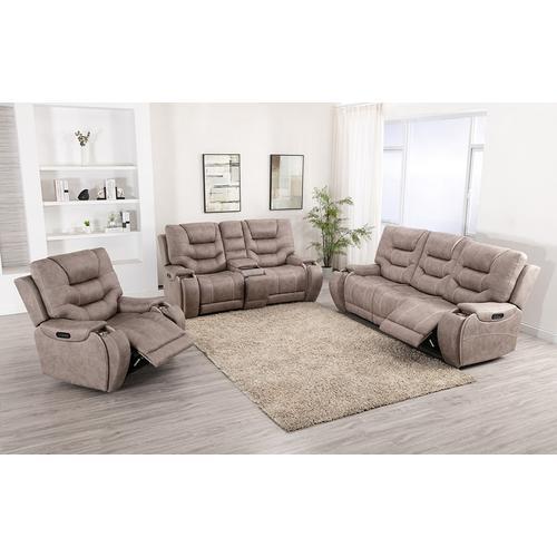 Lifestyle - LIFESTYLE U80143-61 U80143-42 U80143-21 Canyon Gray Power Reclining Sofa, Power Reclining Console Loveseat & Power Recliner Group
